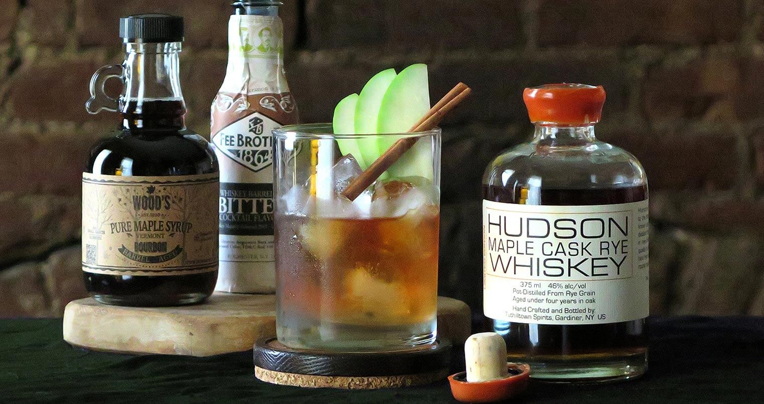 Hudson Whiskey Maple Cask Rye Cocktails, featured image