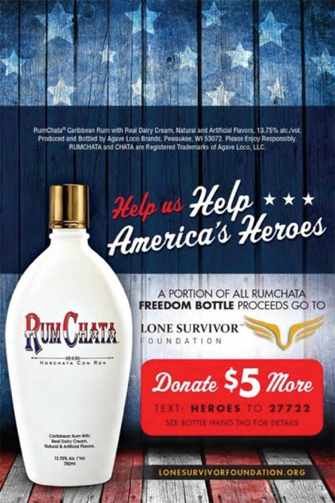 RumChata Freedom Bottle Generates More Than $500K In Donations, advertisement