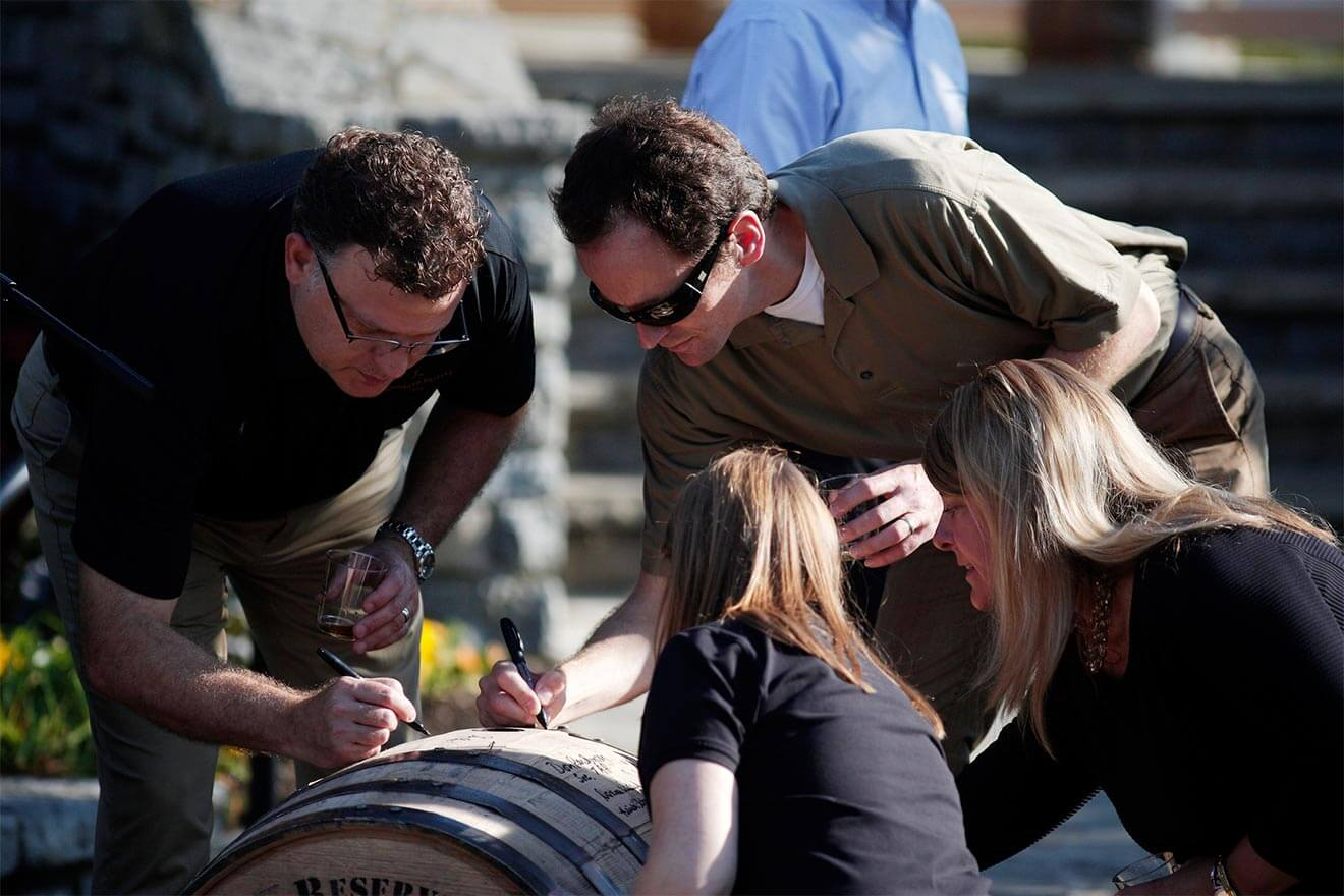 Woodford Reserve Production Team Signing Barrel