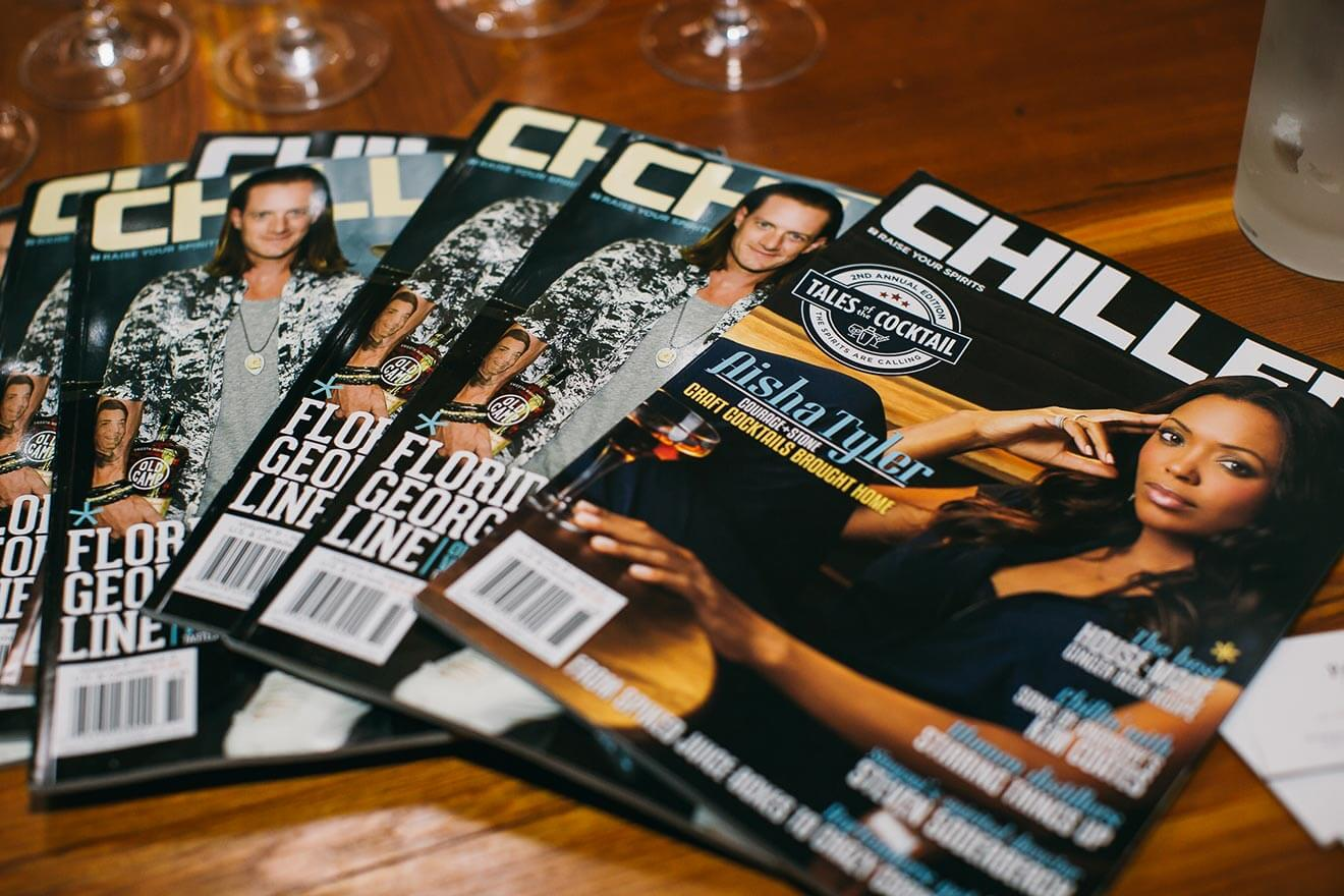 chilled 100 roundtable series, boston ma, magazines on display