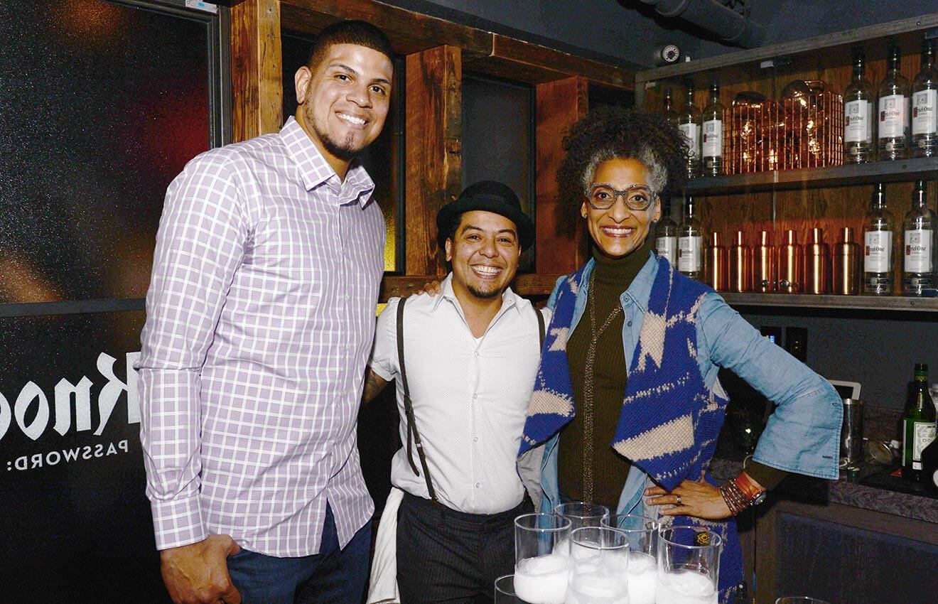 Dellin Betances Moses Laboy and Carla Hall