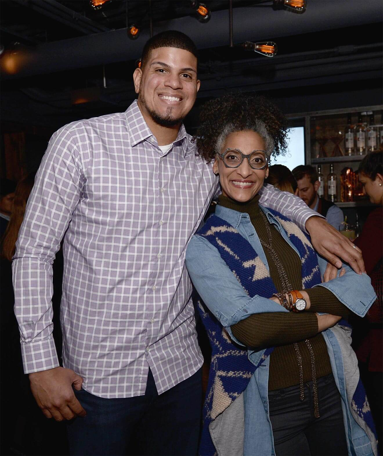Dellin Betances and Carla Hall