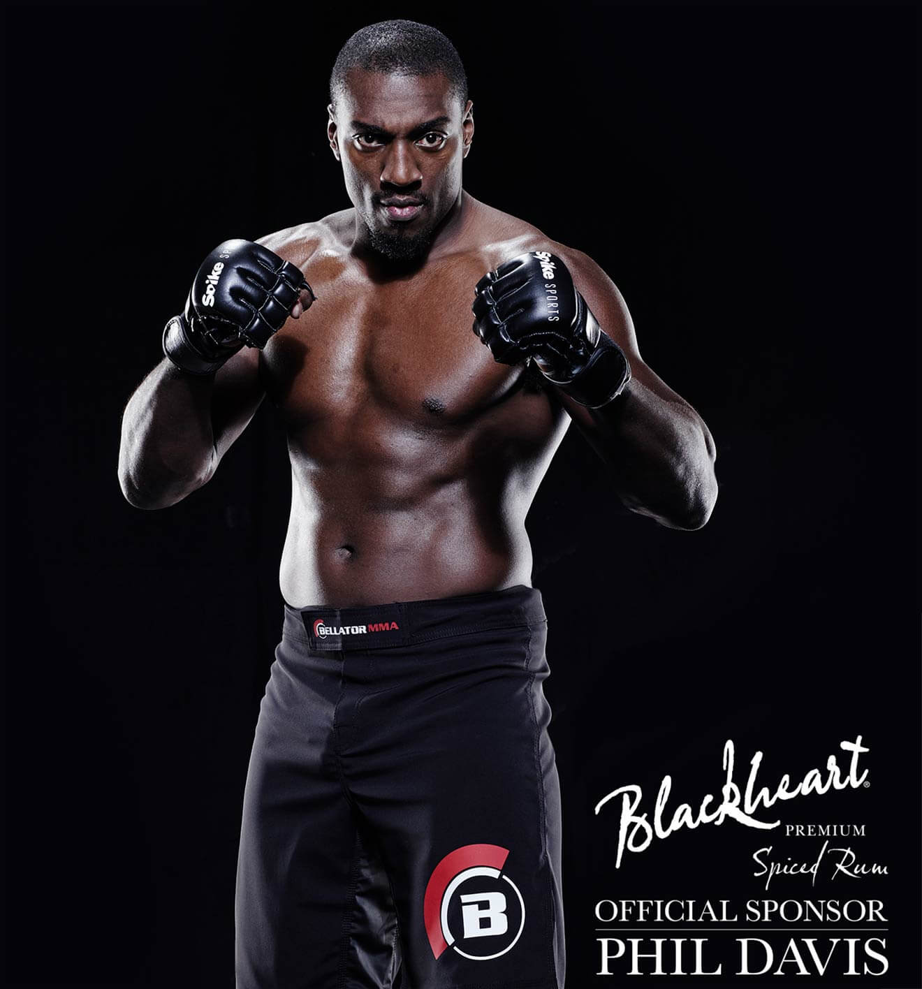 Phil Davis, MMA Champion Posing for Blackheart Spiced Rum