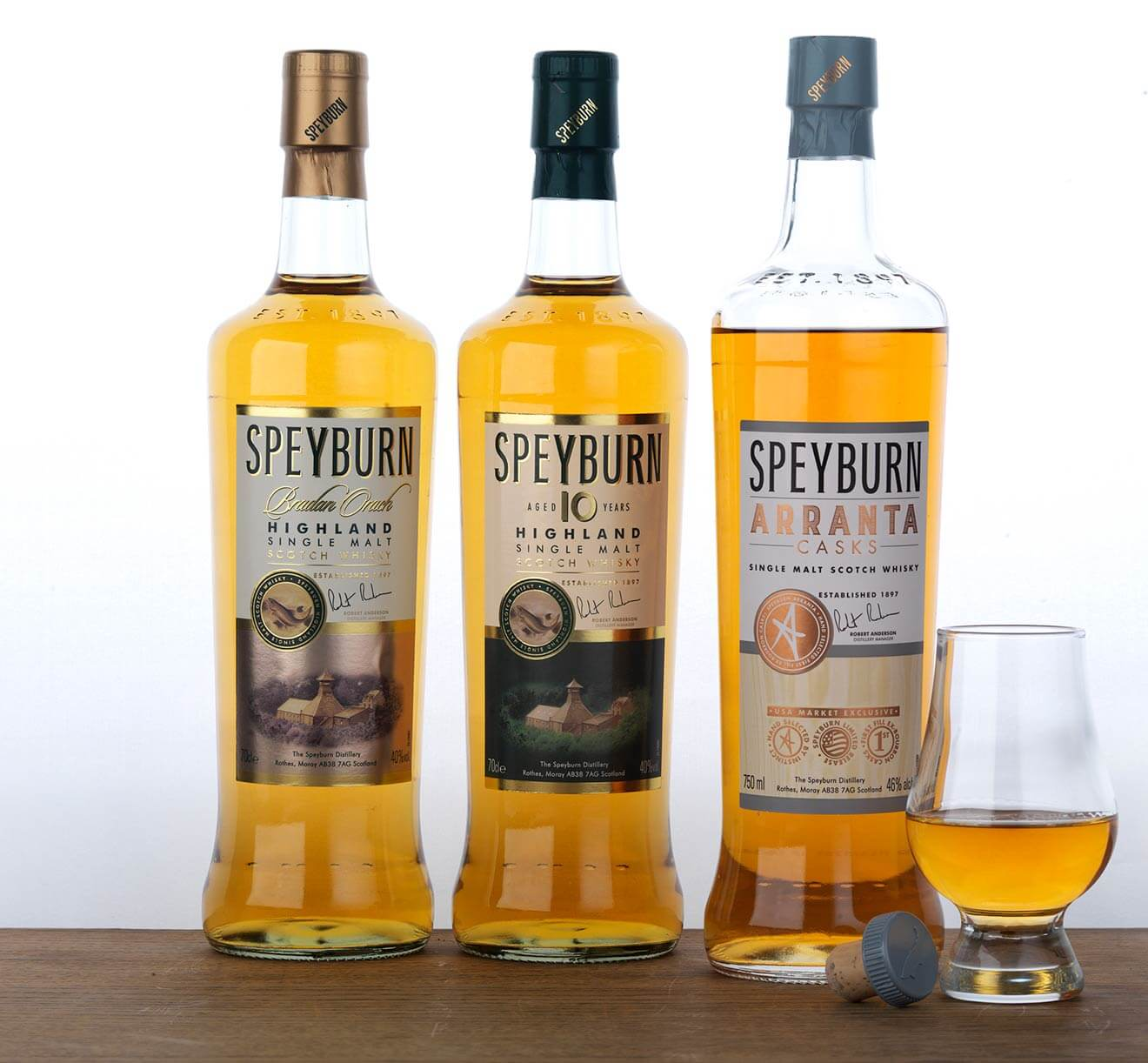 speyburn distillery family of spirits