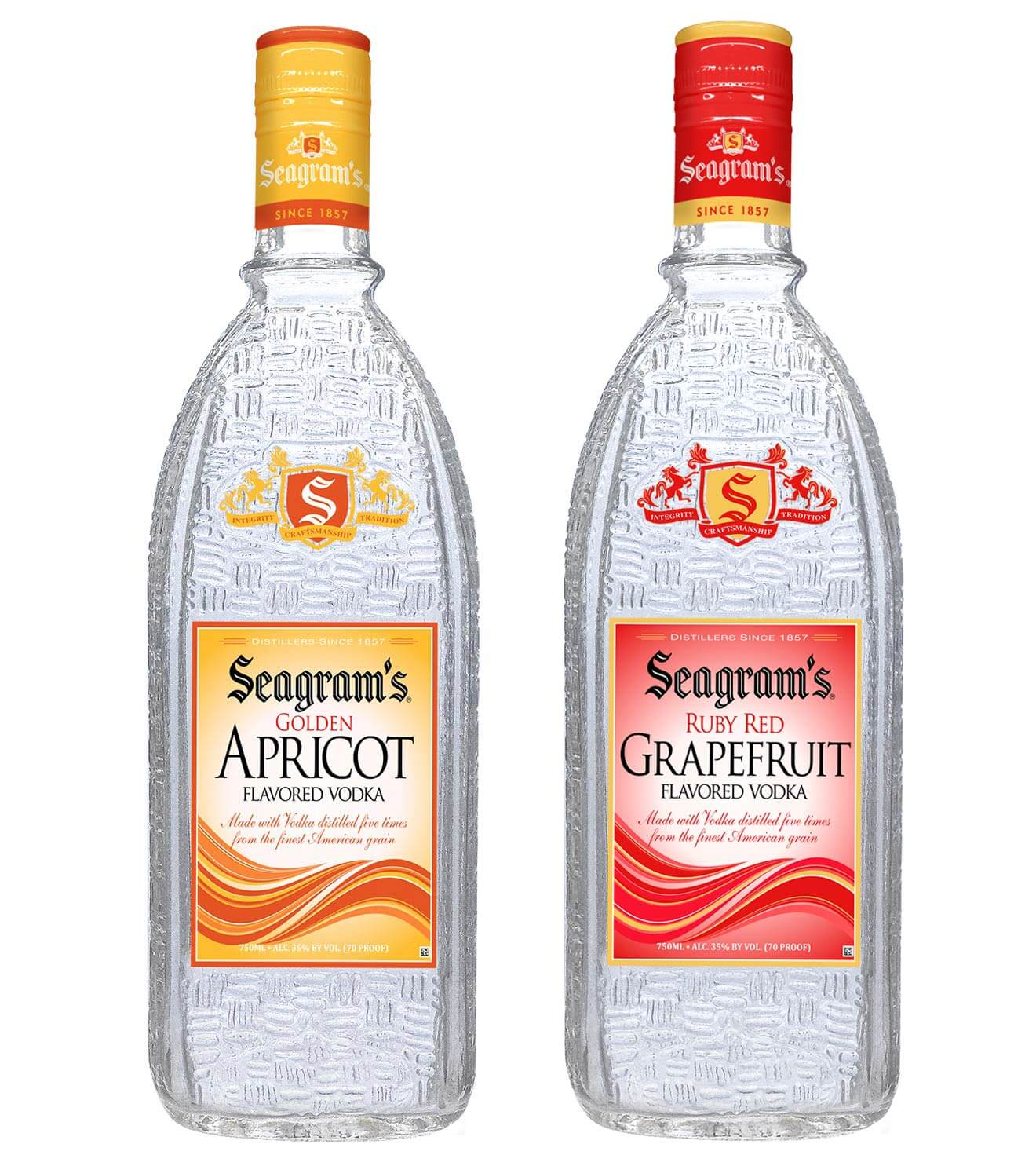 Seagram's Vodka Launches Golden Apricot and Ruby Red Grapefruit Flavored Vodka