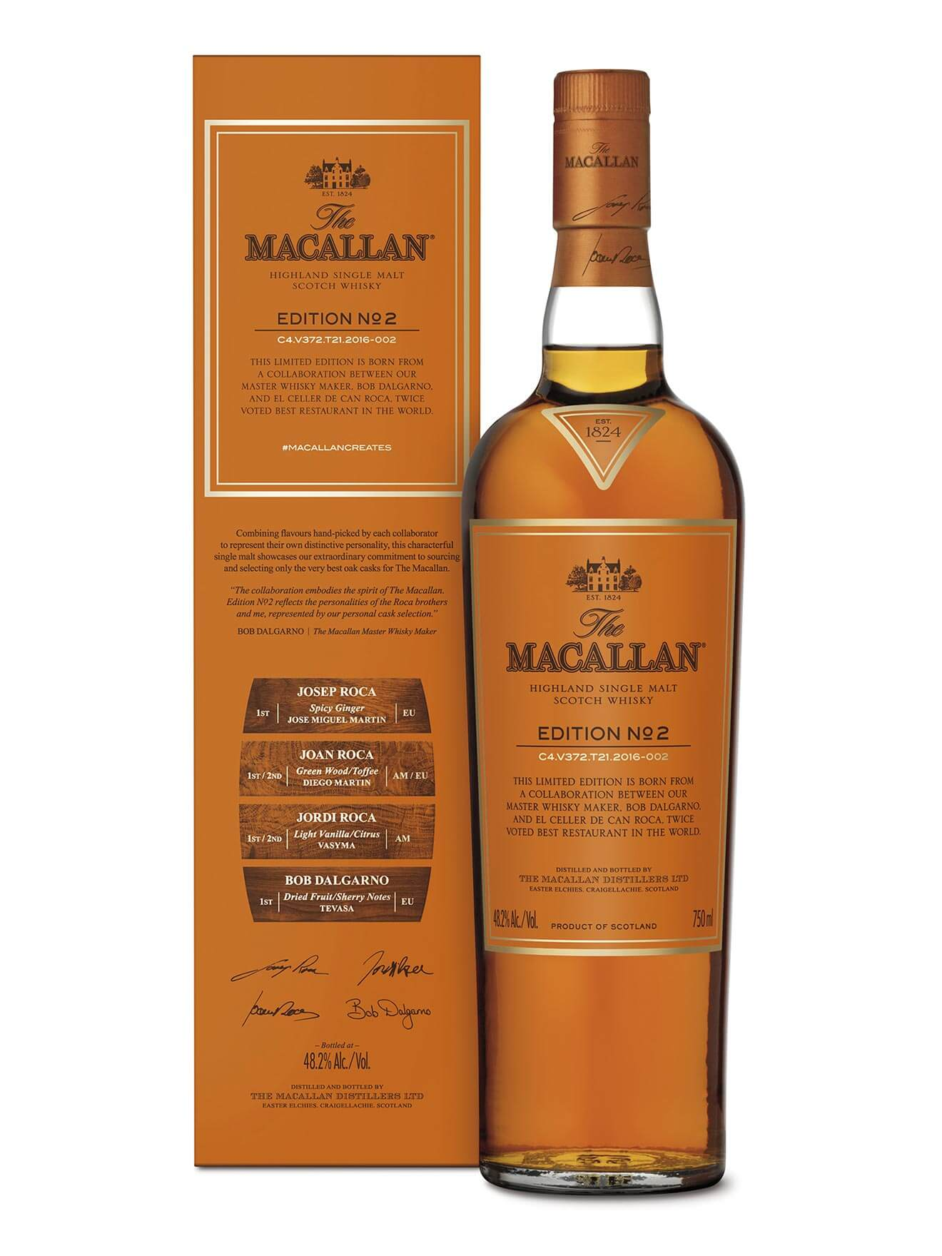 The Macallan Reveals Edition No. 2, bottle and packaging