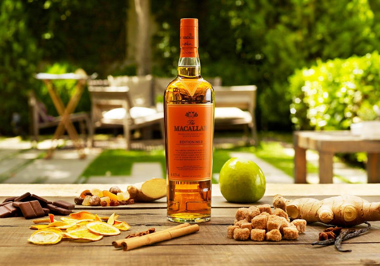 The Macallan Reveals Edition No. 2, bottle table display