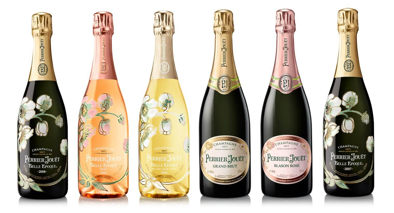 Perrier-Jouët Champagne lineup