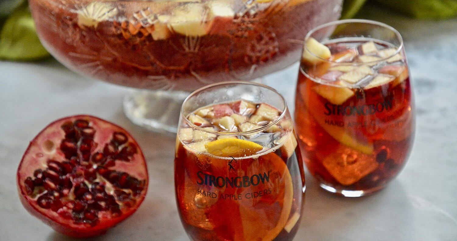 Strongbow Cider Pomegranate Punch, featured image