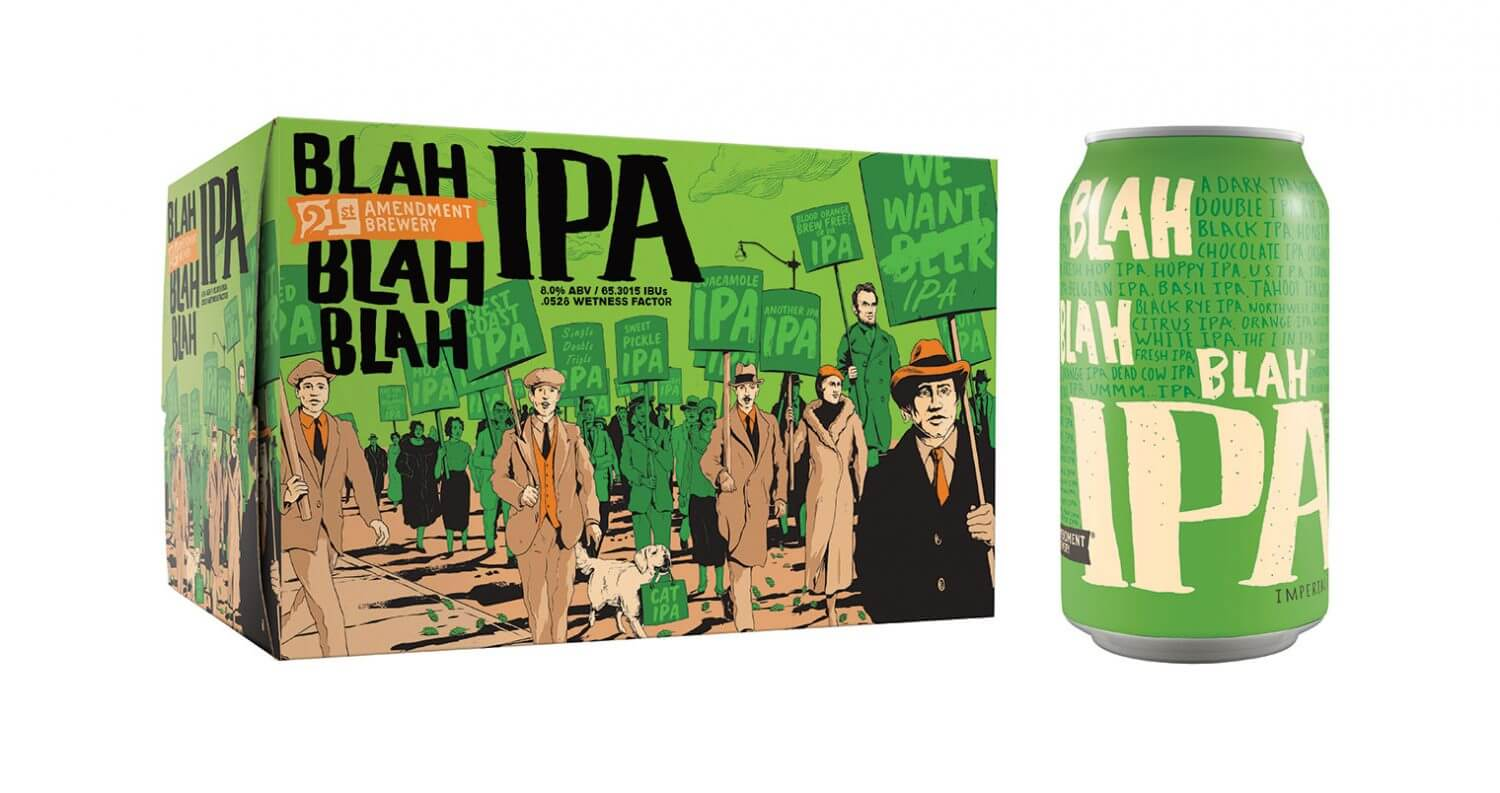 21st Amendment Brewery Launches Blah Blah Blah IPA, featured image