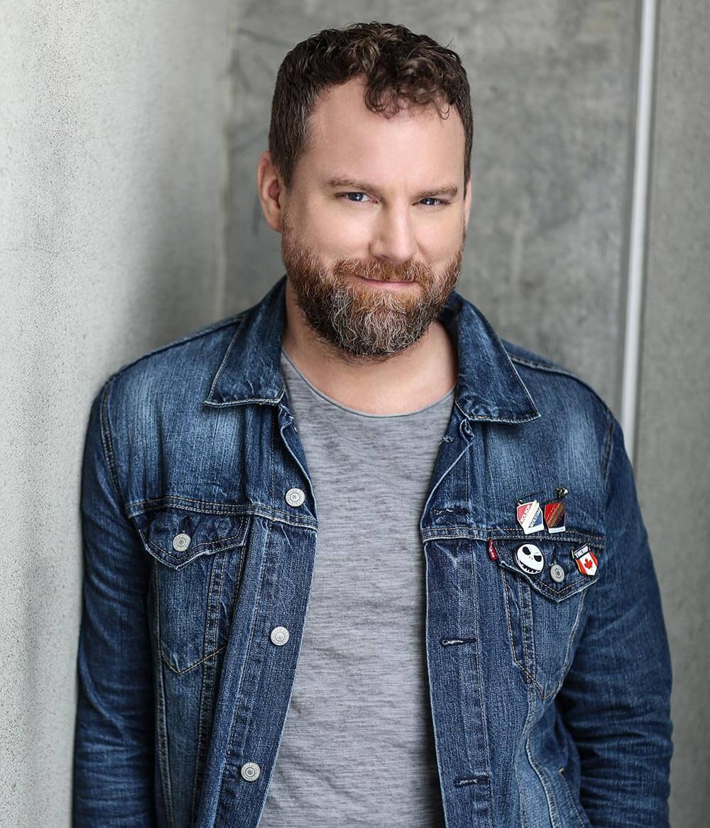 Chillin' with Patrick Gilmore, jean jacket, smile