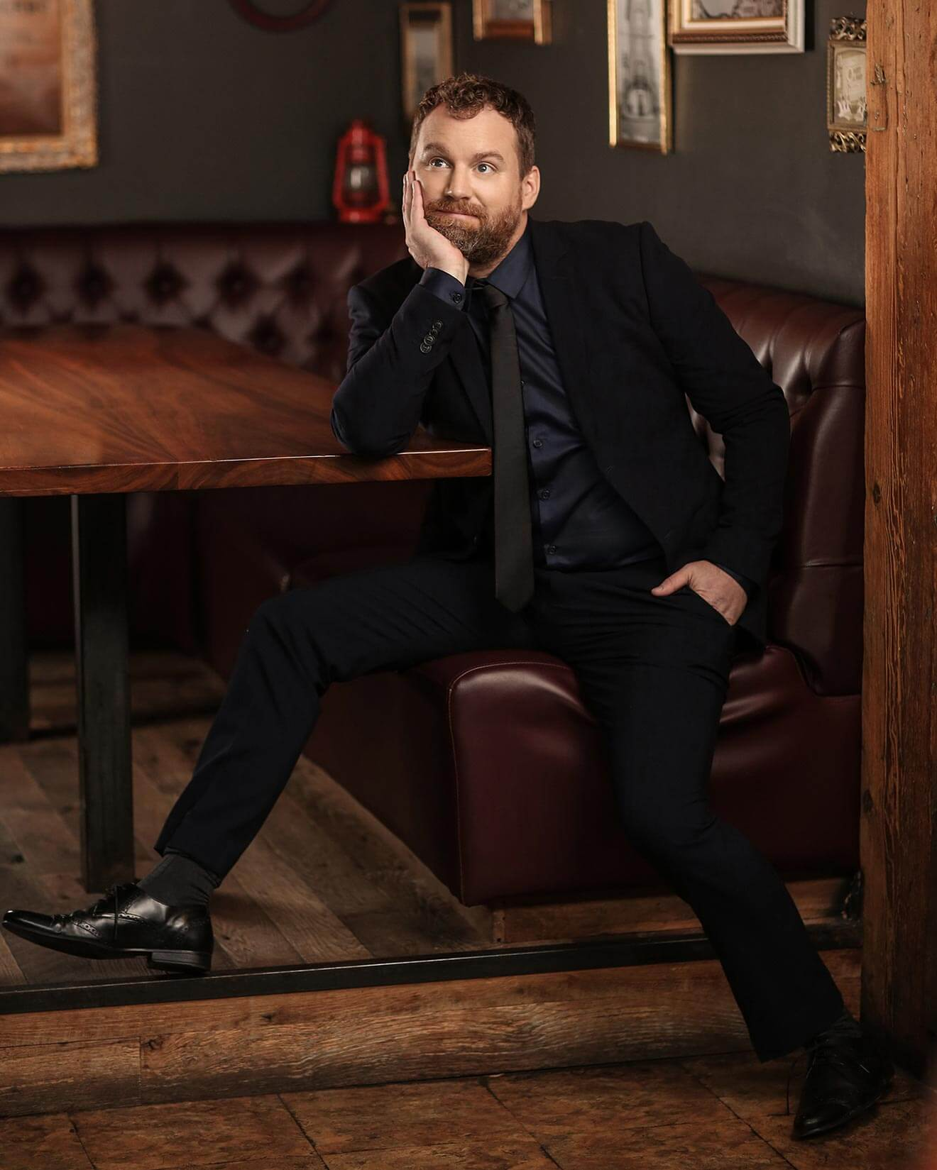 Chillin' with Patrick Gilmore, thoughtful pose