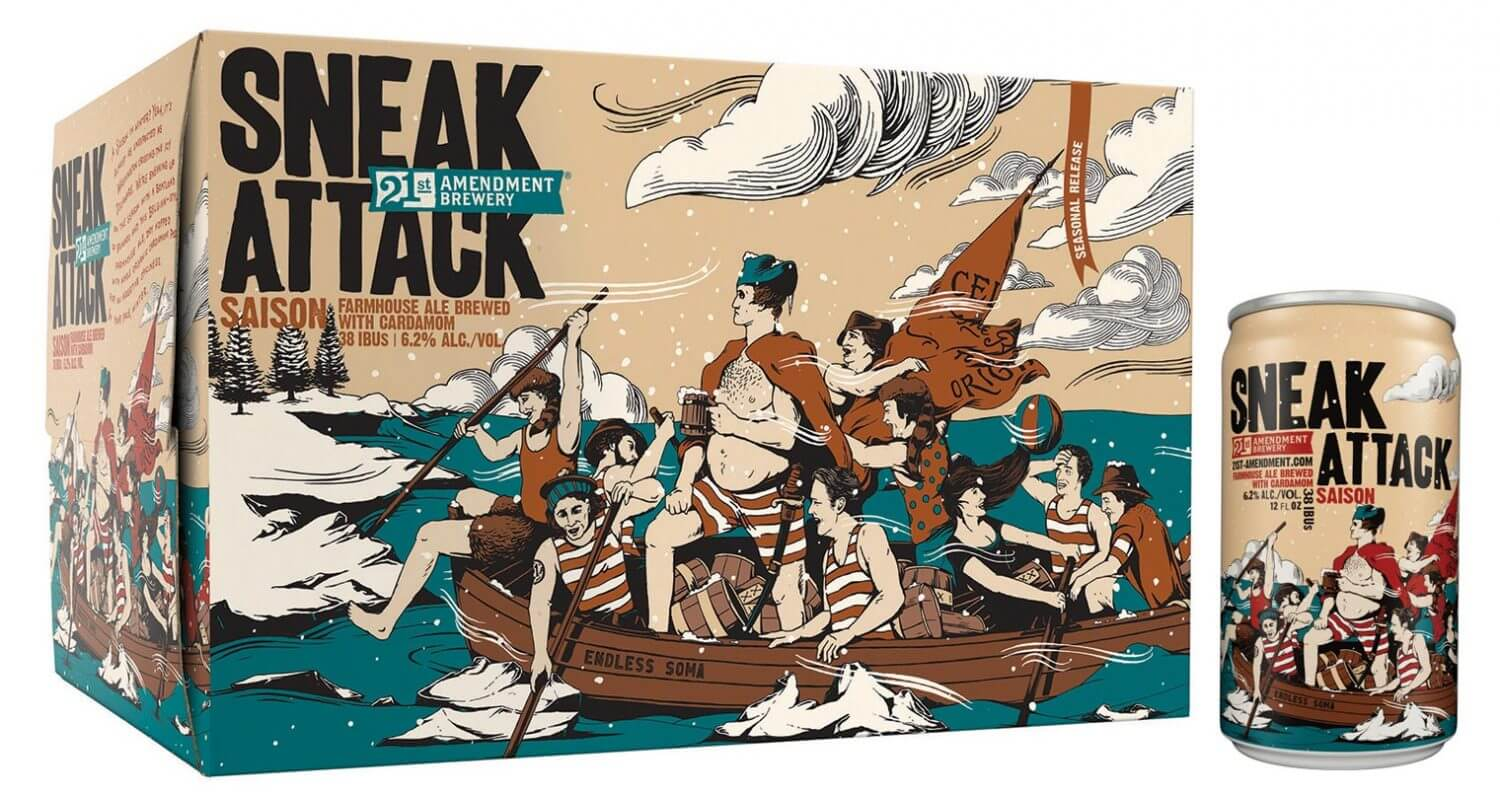 21st Amendment Brewery Releases Sneak Attack Saison, featured image