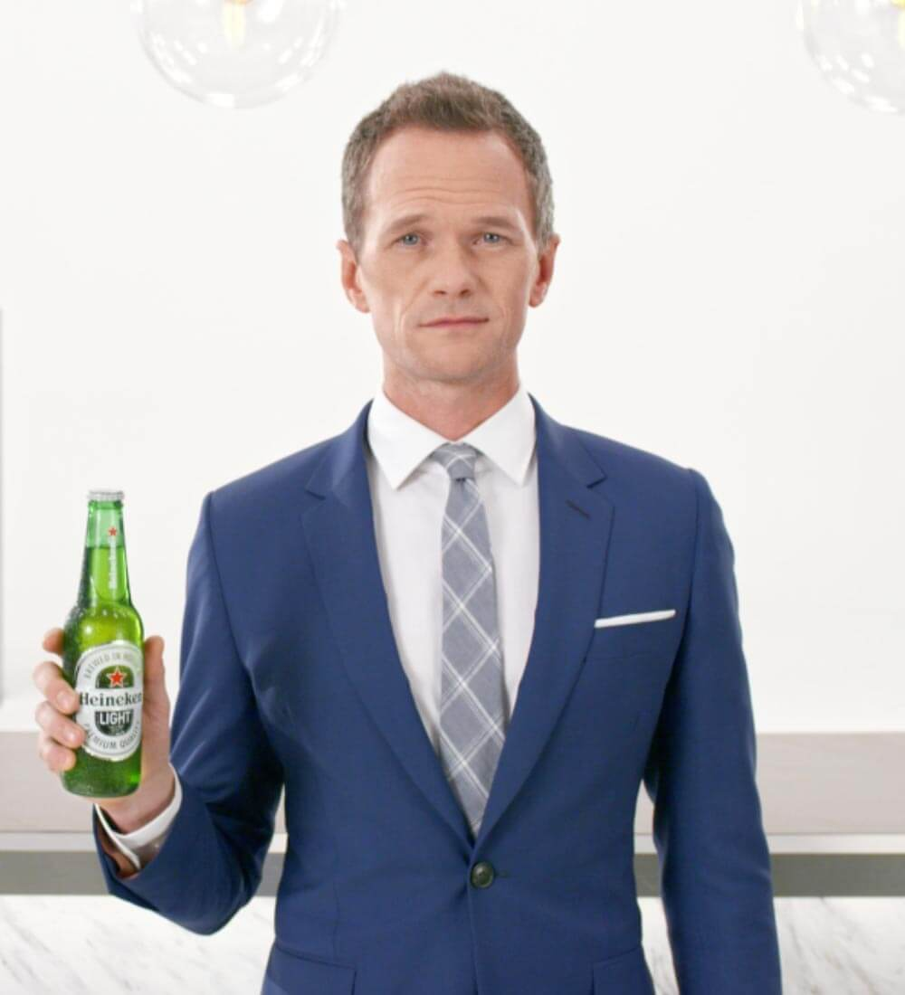 Patrick Harris Hypnotizes Viewers in New Heineken Light Commercial