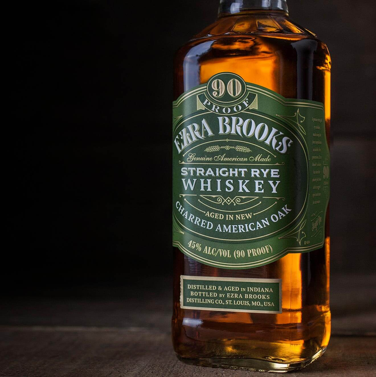 Ezra Brooks Rye 90 Proof
