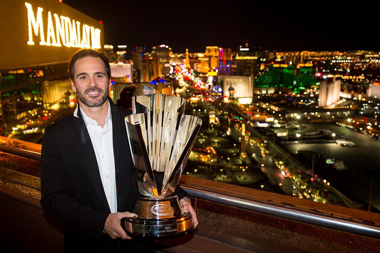 Jimmie-Johnson-with-trophy-mandalay-bay