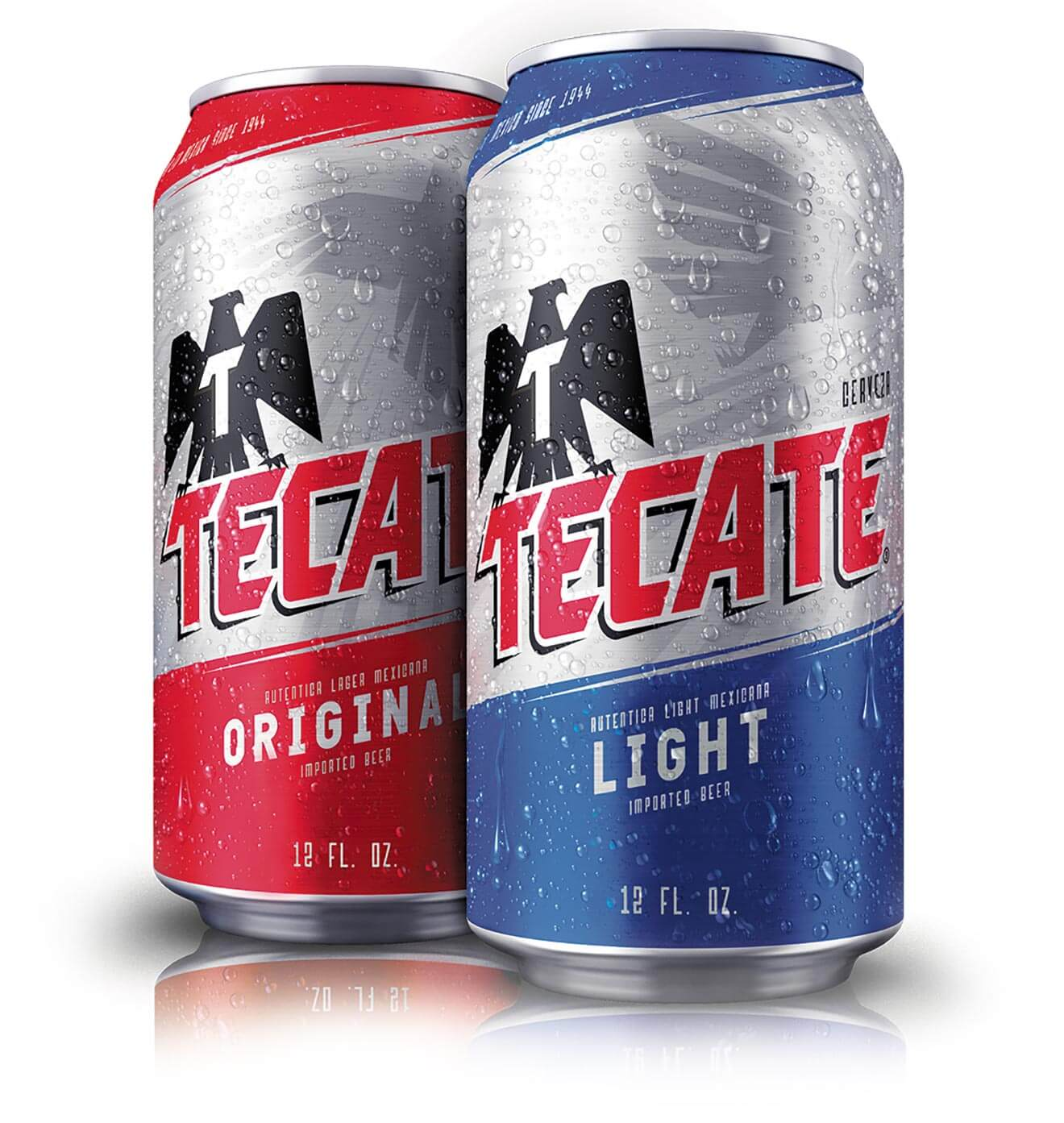 Tecate and Tecate Light cans