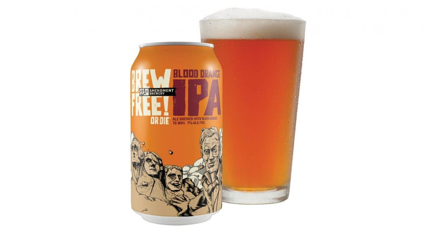 21st Amendment Brewery Launches Blood Orange IPA, featured image