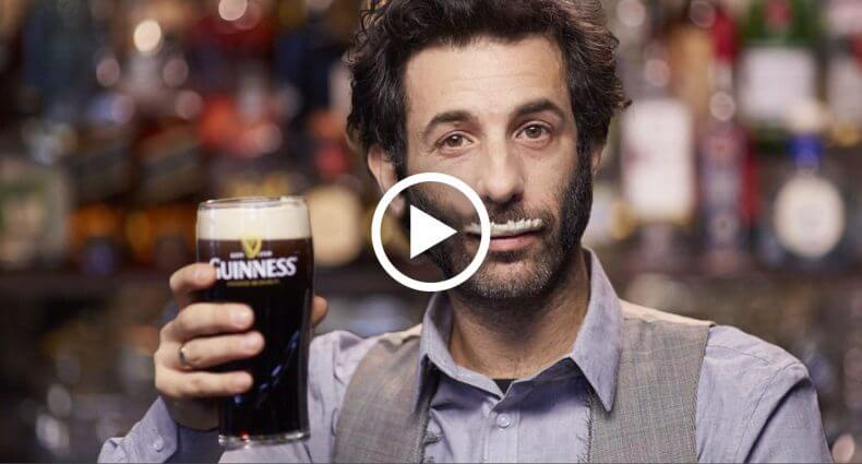 guiness give a stache