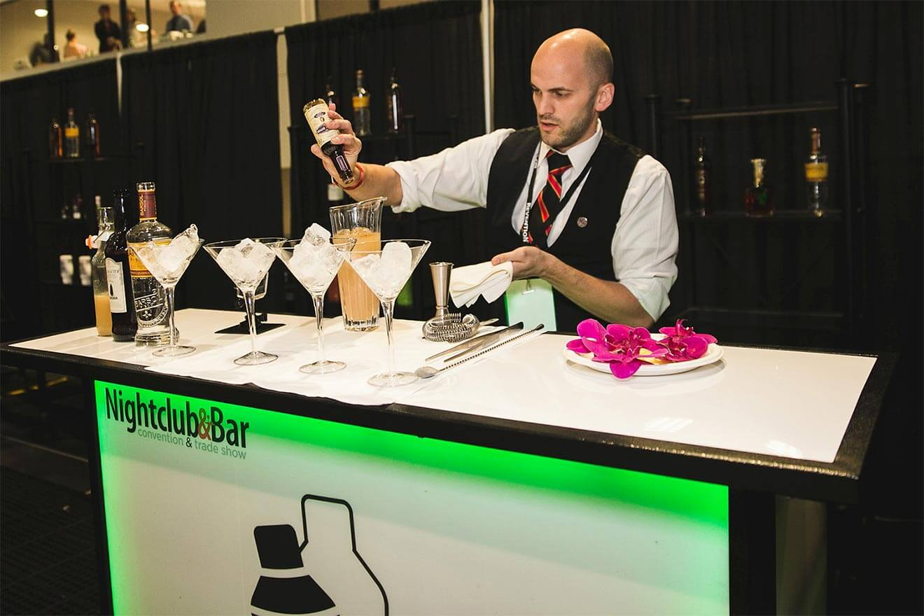 Mixologist Creating Cocktials at the Shake It Up Competition