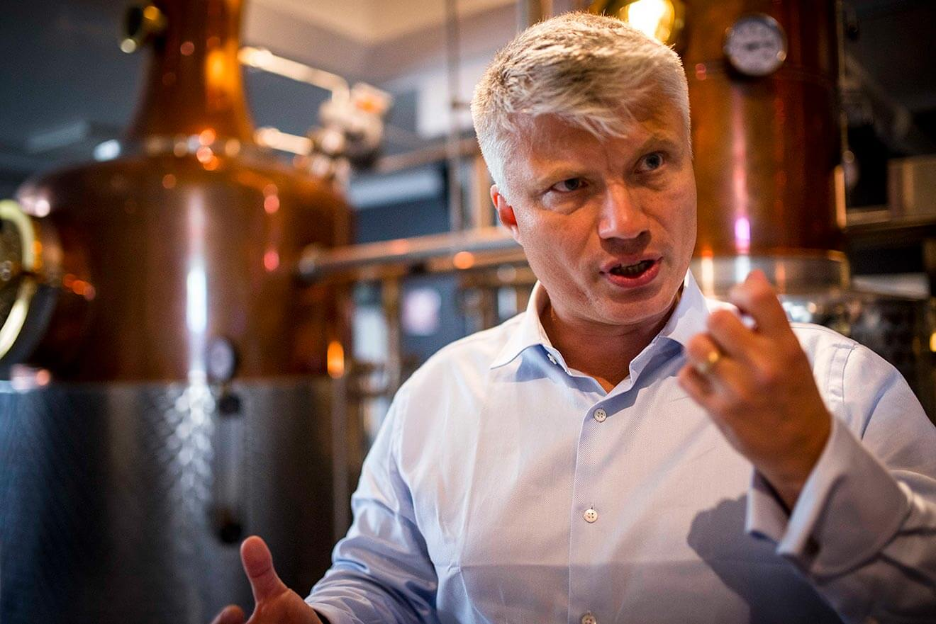Thomas Kuuttanen - Master Blender of the Year for Purity Vodka, speaking