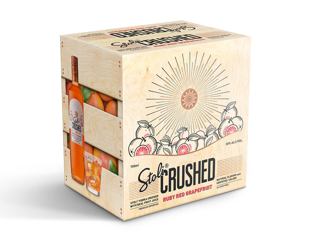 Stoli Crushed Grapefruit Package