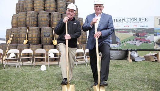 Templeton Rye Breaks Ground on New Distillery in Iowa