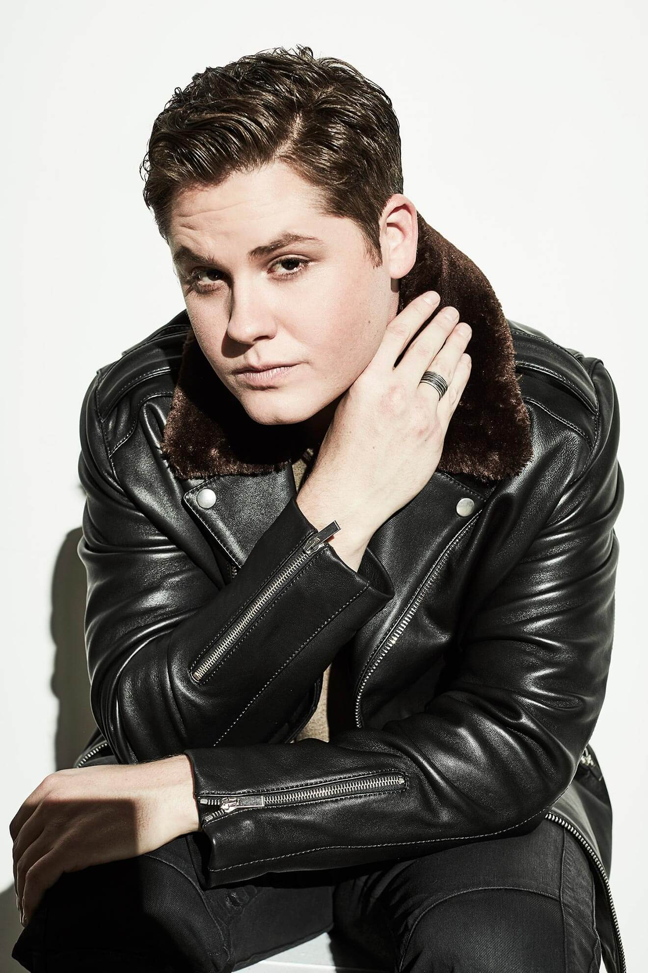 Chillin' with Matt Shively, black jacket portrait