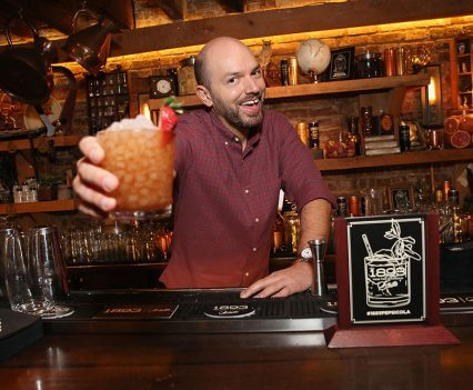 Paul Scheer Presenting His Cocktail