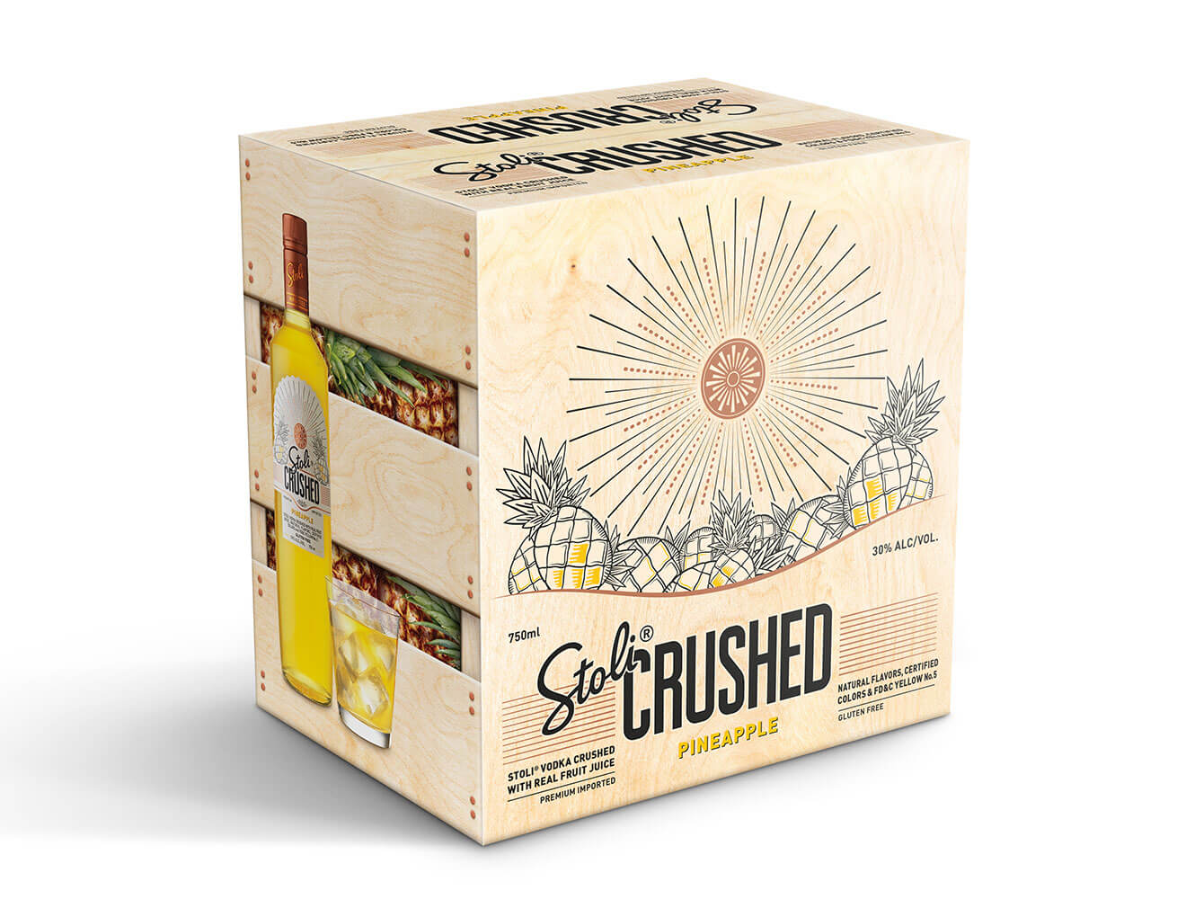 Stoli Crushed Pineapple Package
