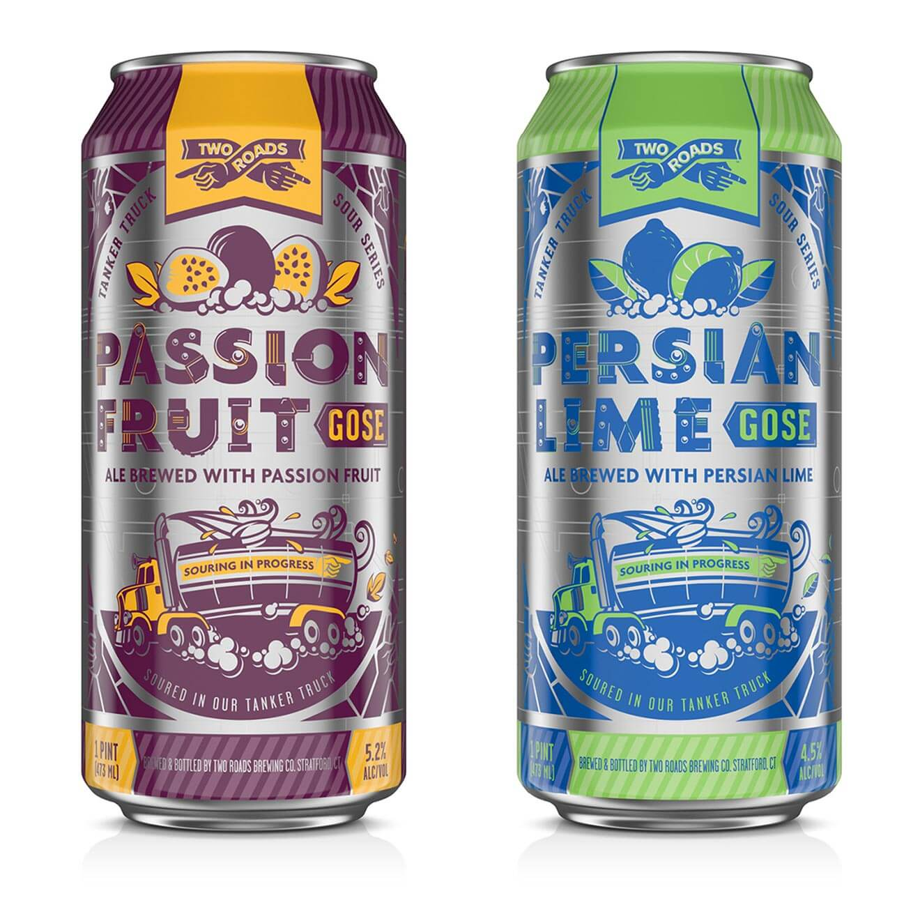 Two Roads Brewing Passion Fruit and Persian Lime Gose