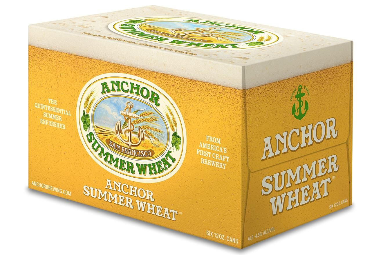 Anchor Summer Wheat 6 Pack Cans