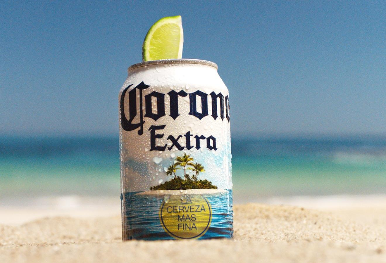Corona Extra Summer Beach Can