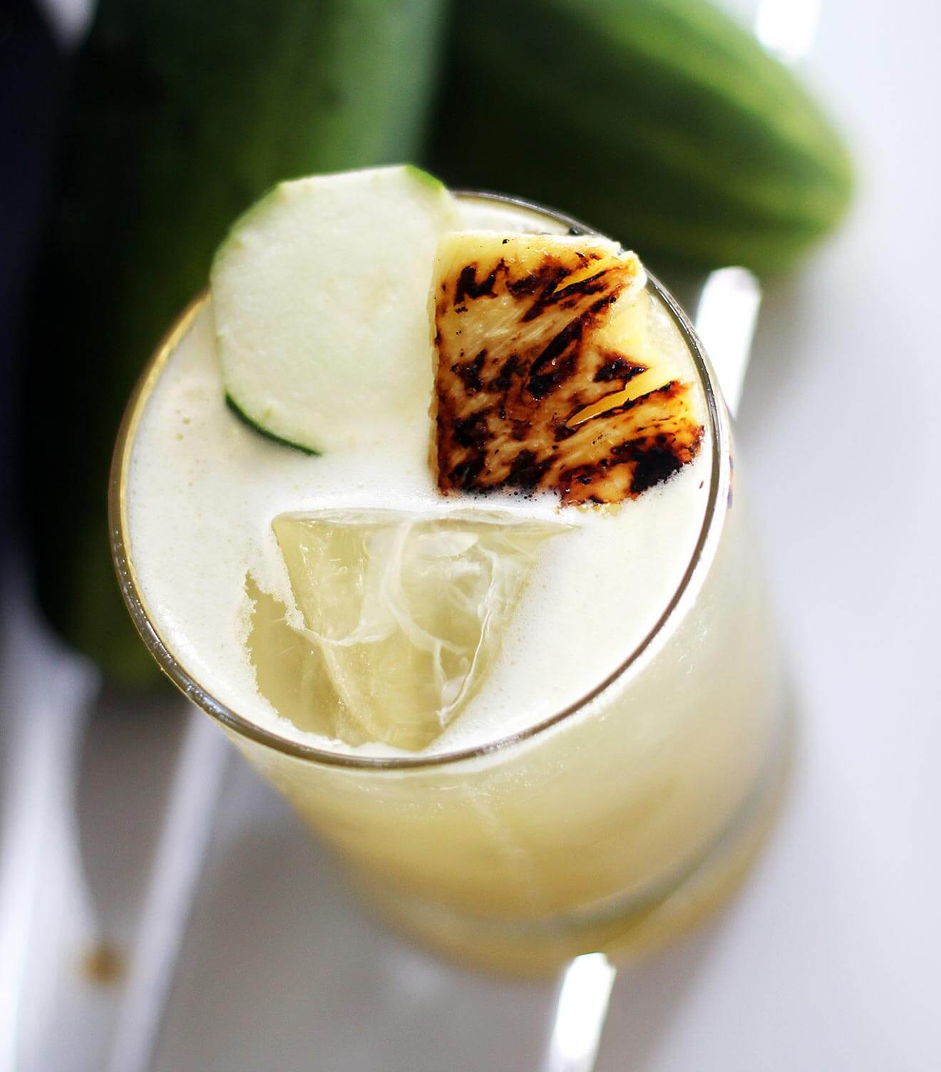 Smoked Jalapeño and Cucumber Cooler
