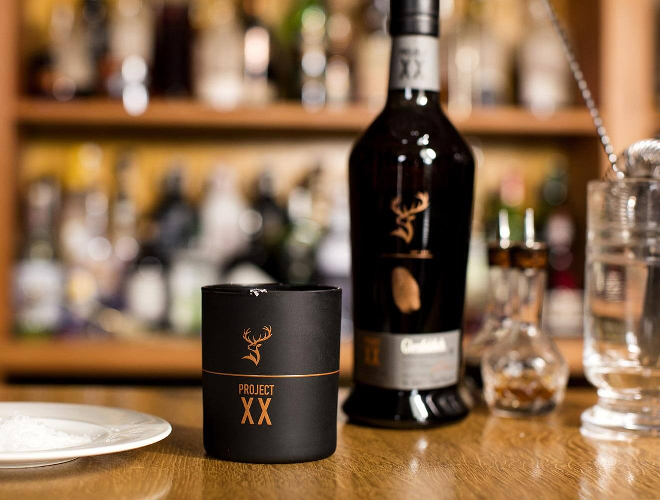 Glenfiddich Experimental Series Project XX bottle and glass