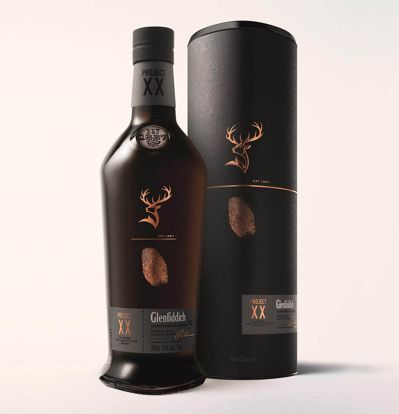 Glenfiddich Project XX, bottle and package