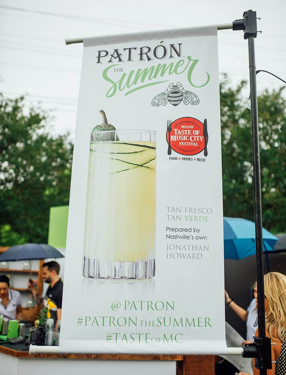 'Patrón the Summer', display banner at event