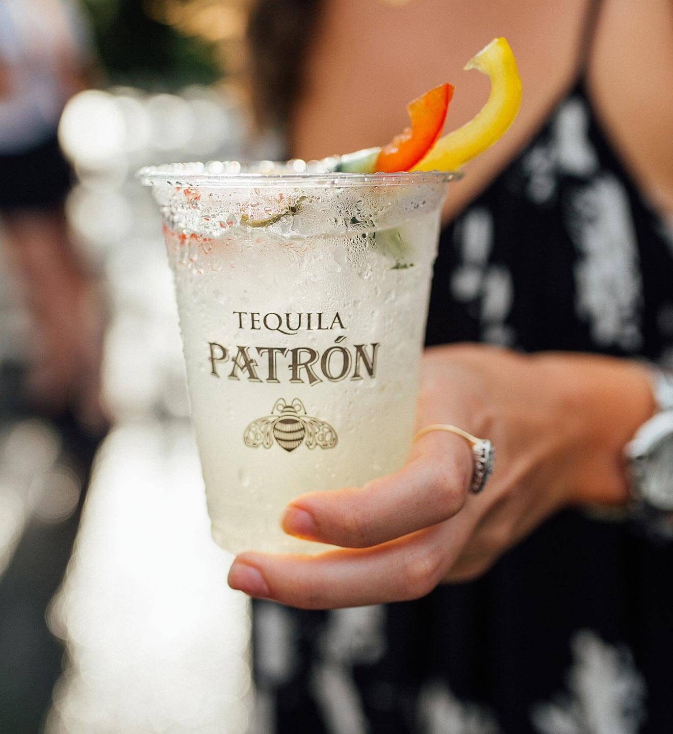 'Patrón the Summer', enjoying a cocktail
