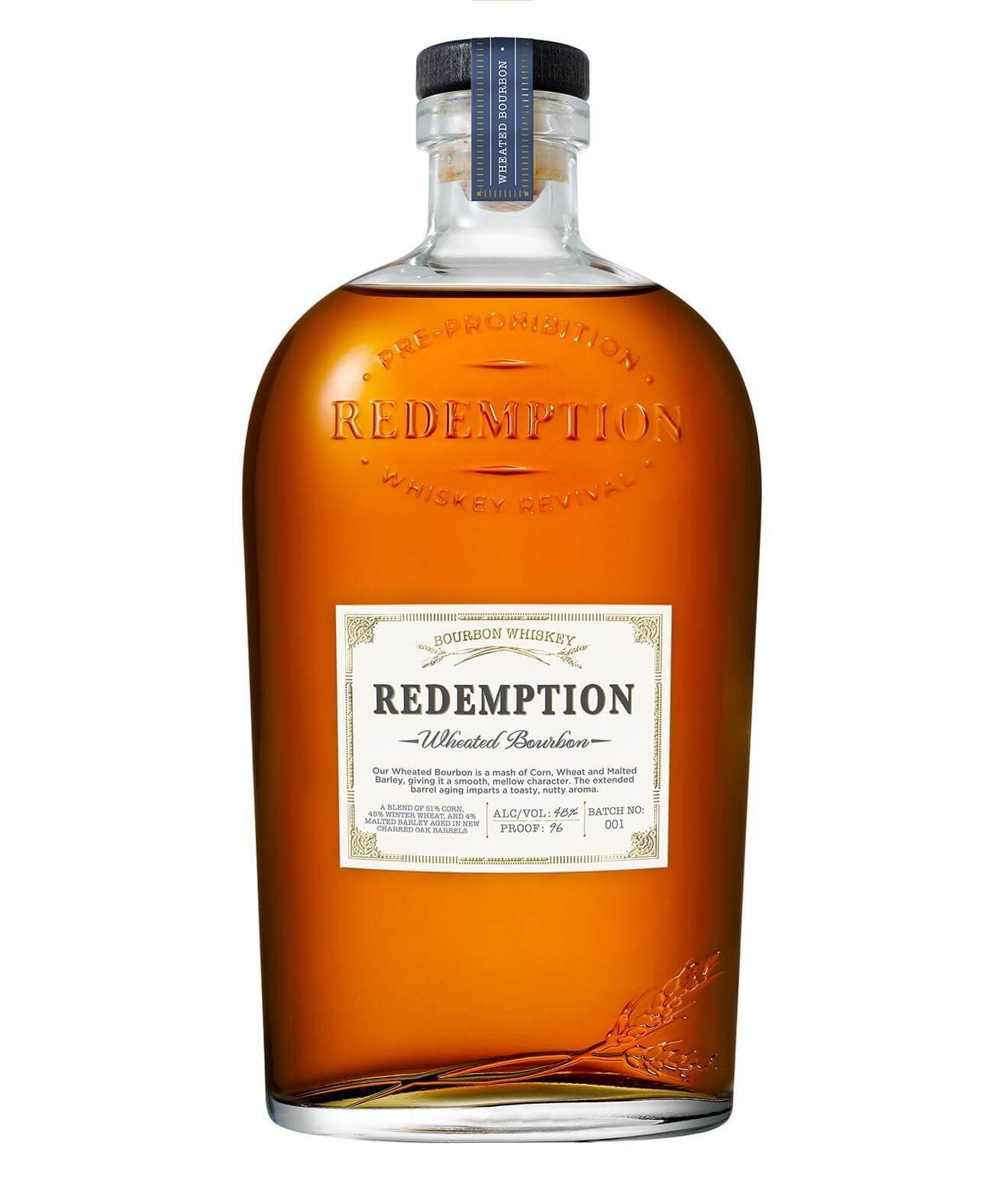 Redemption Whiskey, Limited Edition Wheated Bourbon