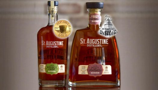 St. Augustine Distillery's Bourbon and Port Finished Bourbon Win Gold and Platinum at 2017 SIP Awards