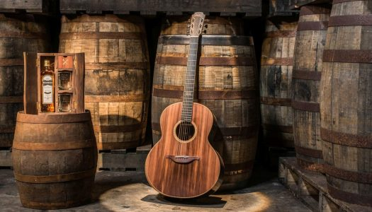 Bushmills and Lowden Guitars Launch Guitar Made From Whiskey Barrels and Ancient Bog Oak