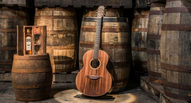 Bushmills and Lowden Guitars Launch Guitar Made From Whiskey Barrels and Ancient Bog Oak, featured image