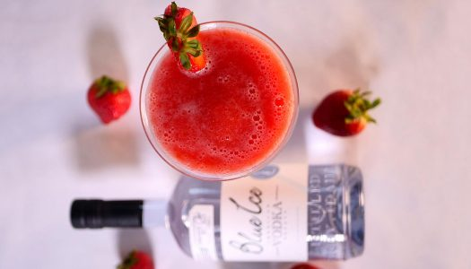 Classic Strawberry Vodka Daiquiri for National Daiquiri Day
