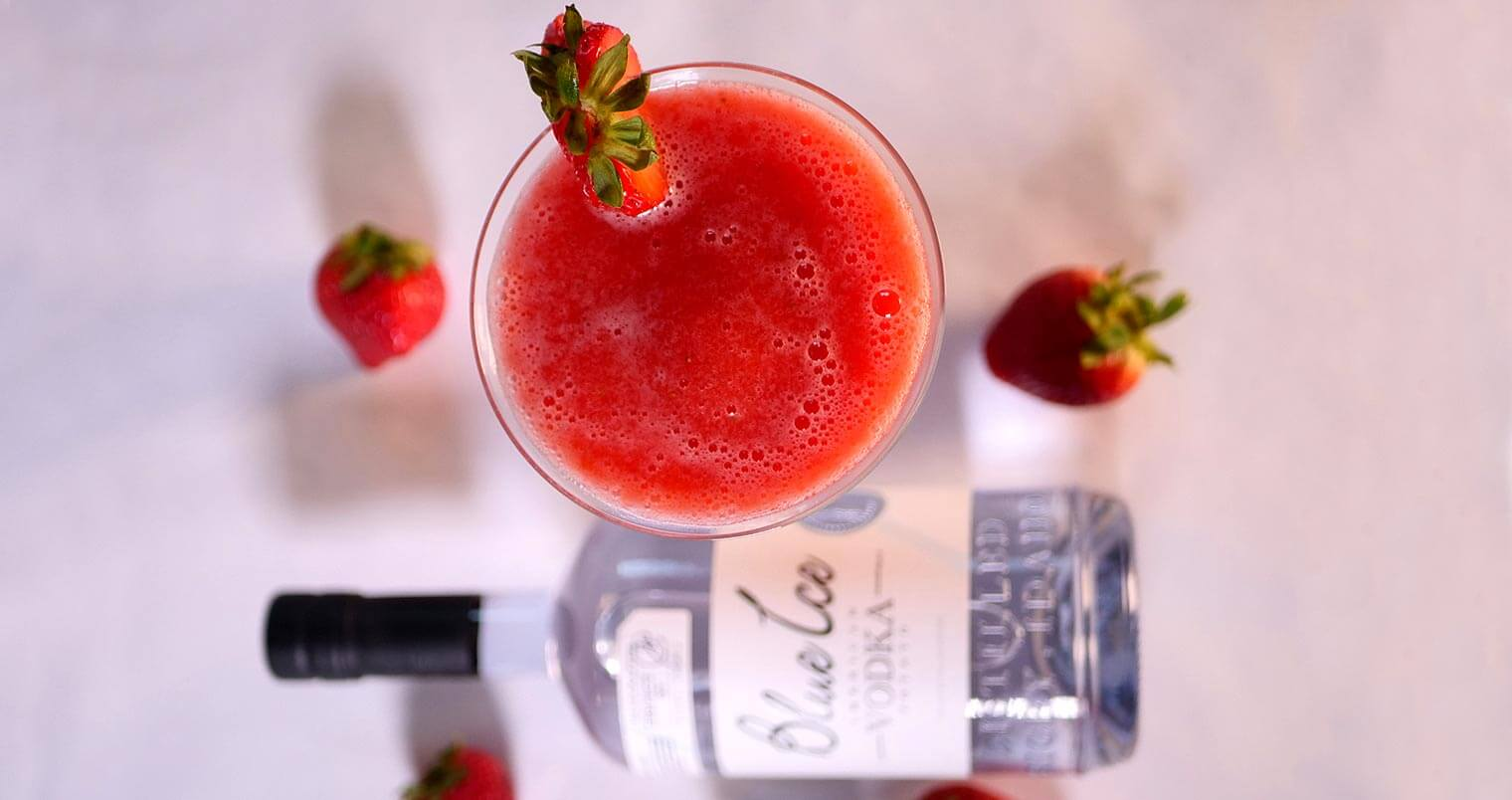 Classic Strawberry Vodka Daiquiri for National Daiquiri Day, featured image