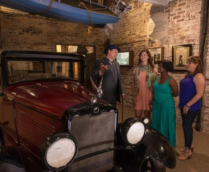 A beautiful classic car from the time of prohibition