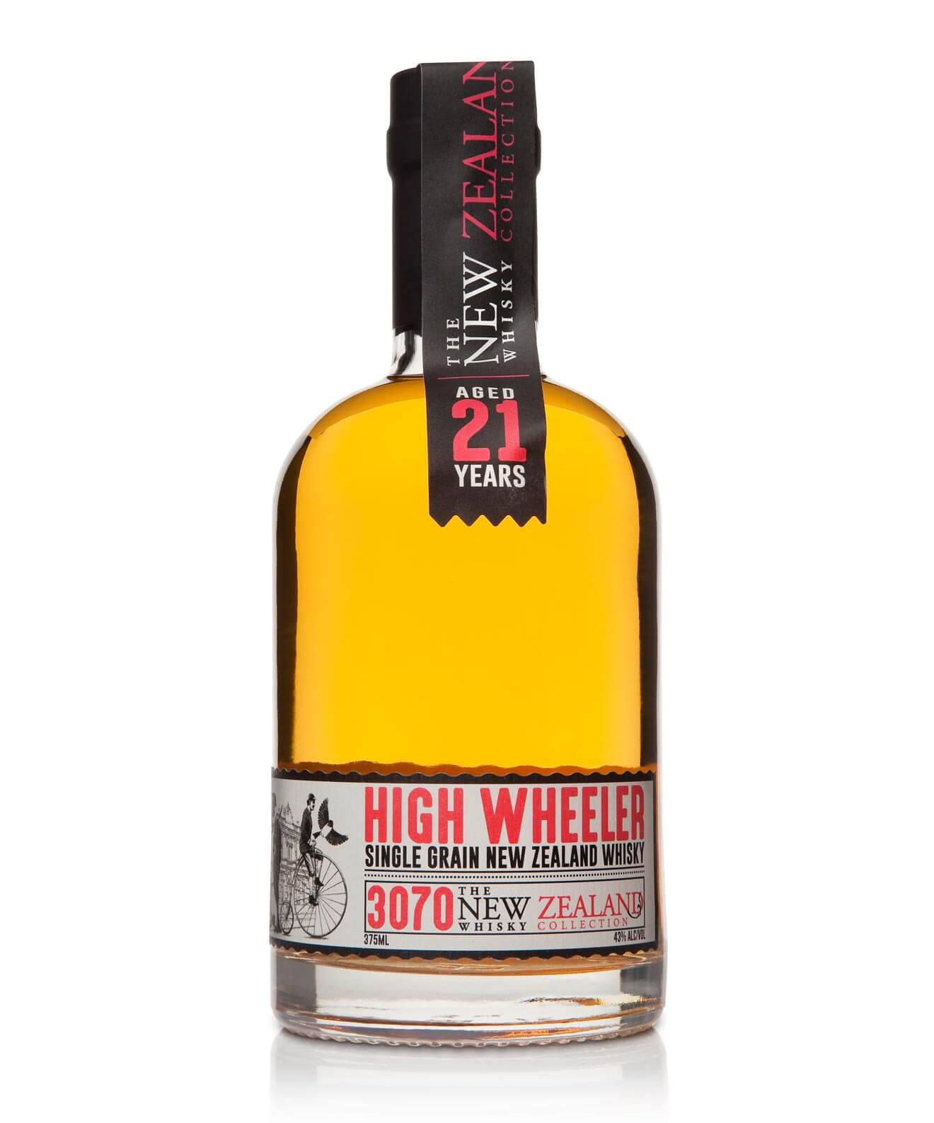 High Wheeler 21 Year Old Single Grain bottle