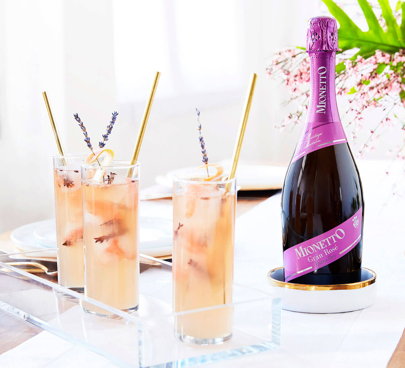 Lavender Blush cocktail with Mionetto-Prosecco