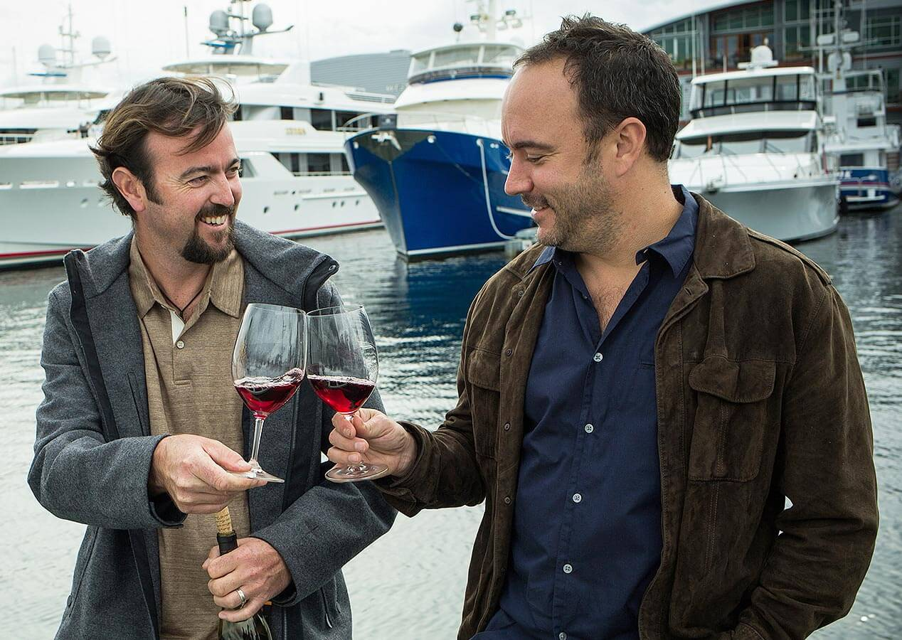 Winemaker Sean McKenzie and Musician Dave Matthews