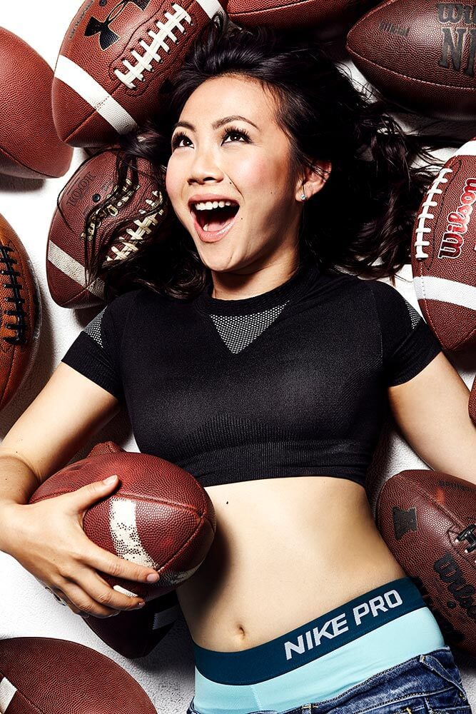 Chillin' with Jona Xiao, footballs, smiling