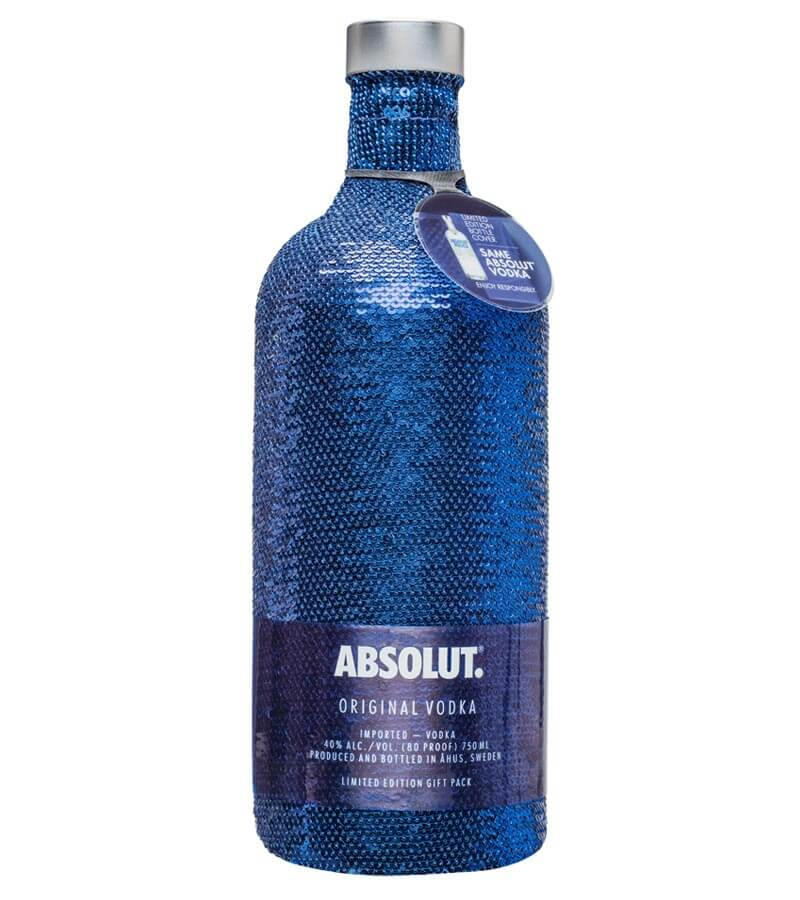 Absolut Limited Edition Sequin Bottle